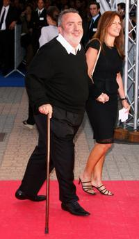 Dominique Farrugia and his wife at the premiere of