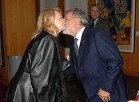 Angie Dickinson and President Sid Ganis at the Academy's salute to John Wayne with a screening of