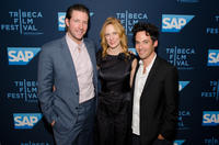 Ed Burns, Marsha Dietlein and Aaron Lubin at the Illinois premiere of