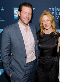 Ed Burns and Marsha Dietlein at the Illinois premiere of