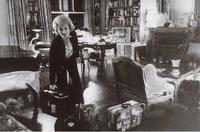 Marlene Dietrich at her New York Apartment.