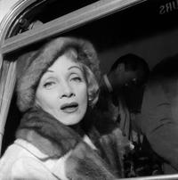 Marlene Dietrich at the Orly Airport.