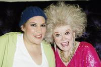 Phyllis Diller and Wendie Jo Sperber at the backstage for weSparkle Night Take III benefit show at the Gindi Theatre.
