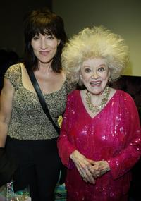 Phyllis Diller and Katey Segal at the backstage for weSparkle Night Take III benefit show at the Gindi Theatre.