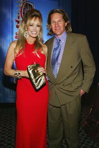 Susan Anton and her husband Jeff Lester at the party after performing in the opening night show of