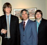 Thurston Moore, Lee Ranaldo and Steve Shelley at the Lower Manhattan Cultural Council's Downtown Dinner and Silent Art Auction.