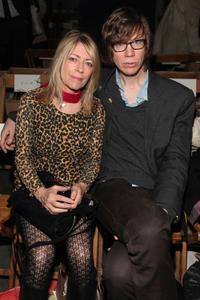 Kim Gordon and Thurston Moore at the Rodarte Fall 2010 Fashion Show during the Mercedes-Benz Fashion Week.