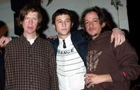 Thurston Moore, Joseph Gordon-Levitt and Michael Bacall at the after party of the New York premiere of
