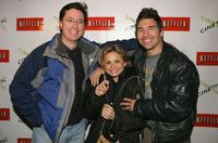 Stephen Colbert, Amy Sedaris and Paul Dinello at the Cinetic Media party during the 2005 Sundance Film Festival.