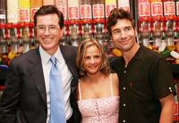 Stephen Colbert, Amy Sedaris and Paul Dinello at the after party of the premiere of