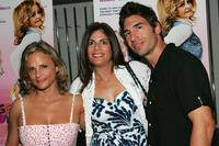 Amy Sedaris, Valerie Schaer Nathanson and Paul Dinello at the premiere of