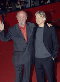 Omero Antonutti and Giulio Scarpati at the premiere of