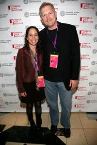 Jody Savin and Randall Miller at the Sloan anniversary party during the 2007 Tribeca Film Festival.