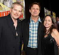 Randall Miller, Bill Pullman and Jody Savin at the premiere of