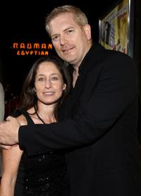 Jody Savin and Randall Miller at the premiere of