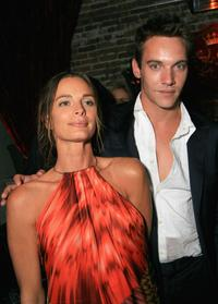 Gabrielle Anwar and Jonathan Rhys Meyers at the after party for the premiere screening of Showtime's
