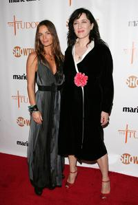 Gabrielle Anwar and Maria Doyle Kennedy at the New York premiere of Showtime's