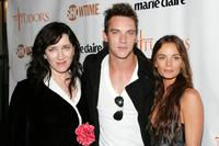 Gabrielle Anwar, Maria Doyle Kennedyand Jonathan Rhys Meyers at the New York premiere of Showtime's