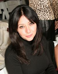 Shannen Doherty at the Joseph Abboud Fall 2005 fashion show during Olympus Fashion Week.