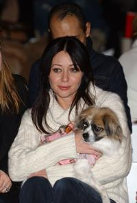 Shannen Doherty at the Target Pet Show Fall 2005 fashion show during the Olympus Fashion Week.