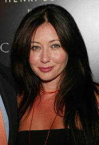 Shannen Doherty at the Catwoman - inspired party.