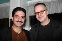 Simon Abkarian and Tim Robbins at the after party of