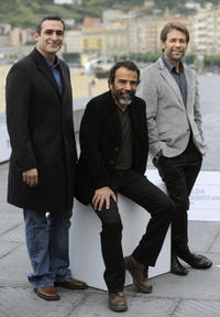 Daniel Martinez, Damian Alcazar and Juan Manuel Bernal at the photocall of