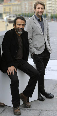 Damian Alcazar and Juan Manuel Bernal at the photocall of