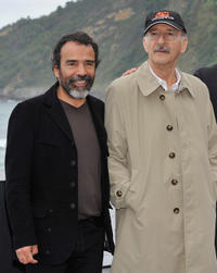 Damian Alcazar and director Felipe Cazals at the photocall of