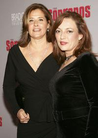 Lorraine Bracco and Sharon Angela at the season premiere of