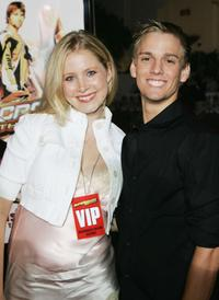 Alana Austin and Aaron Carter at the premiere of