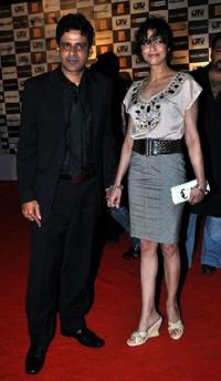 Manoj Bajpai and Neha Bajpai at the premiere of