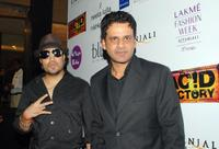 Mika Singh and Manoj Bajpai at the premiere of