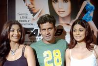 Shilpa Shetty, Manoj Bajpai and Shamita Shetty at the launch of