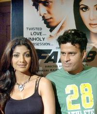 Shilpa Shetty and Manoj Bajpai at the launch of
