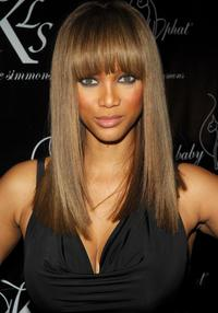 Tyra Banks at the Baby Phat Fall 2008 fashion show.