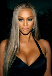 Tyra Banks at the Rodeo Drive Walk of Style Award.