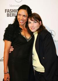 Meret Becker and Friend at the Anglomania/Westwood fashion show during the Mercedes-Benz Fashion Week Berlin Spring/Summer 2008.