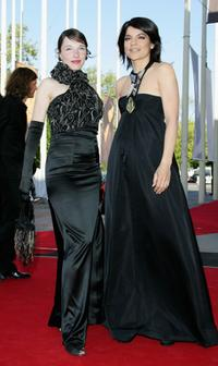 Meret Becker and Jasmin Tabatabai at the German Film Awards (Deutscher Filmpreis).