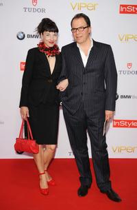 Meret Becker and Guest at the Viper Awards.
