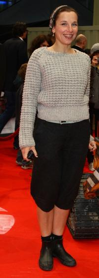Meret Becker at the German premiere of