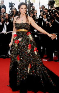 Monica Bellucci at the 'Marie Antoinette' premiere during the 59th International Cannes Film Festival.
