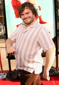 "Jack Black at the premiere of ""Nacho Libre"" in Hollywood."