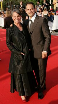 Monica Bleibtreu and Moritz Bleibtreu at the German Film Awards (Deutscher Filmpreis).