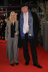 Erika Bok and Mihaly Kormos at the premiere of