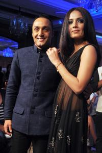 Rahul Bose and Celina Jaitley at the fashion show event in Mumbai.