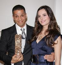 Sami Bouajila and Virginie Ledoyen at the Cesar Film Awards 2008.