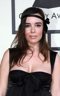 Elodie Bouchez at the 50th Grammy Awards.