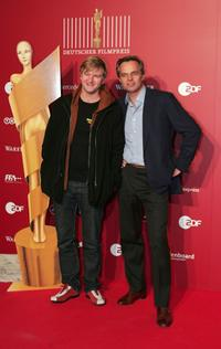 Detlev Buck and Claus Boje at the German Film Awards.