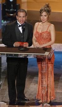 Derek Parra and Maria Canals at the 2002 Alma Awards.